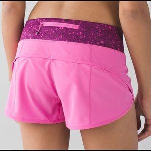 Lulu lemon pink paradise speed shorts